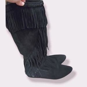 Sam Edelman Utah Suede Fringe Boots